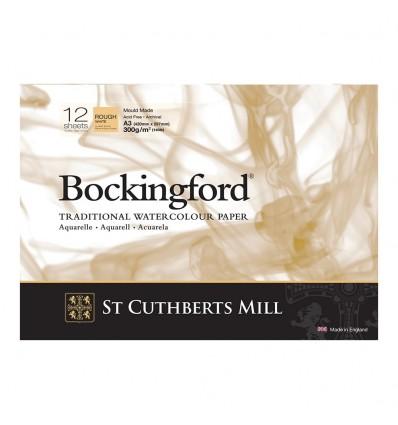 Альбом для акварели Saunders Bockingford Rough White (Торшон - крупное зерно), А3 (29,7х42см), 300г/м2, 12 листов