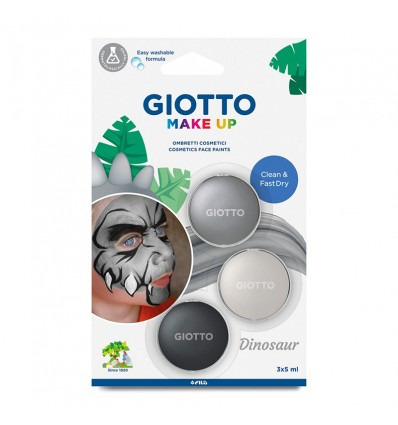 Краски для лица (грим) GIOTTO Make up DINO, 3 цвета по 5мл