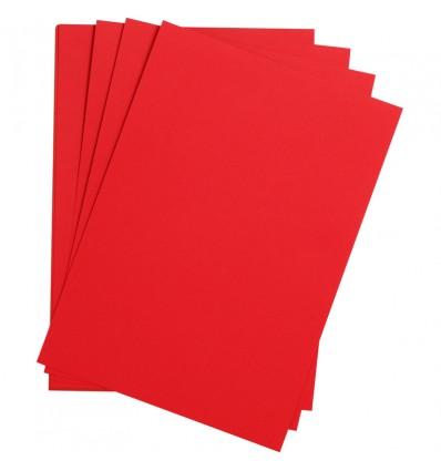 Бумага цветная Clairefontaine Etival color, 500*650мм., легкое зерно Хлопок., 24 листа, Ярко-красный