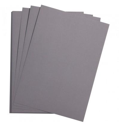 Бумага цветная Clairefontaine Etival color, 500*650мм., легкое зерно Хлопок., 24 листа, Темно-серый
