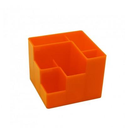 Подставка для канцелярских мелочей Attache Fantasy, 6 отделений, оранжевая