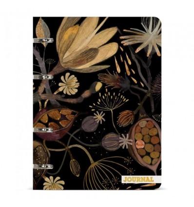 Тетрадь на кольцах Bruno Visconti Ночные цветы, А5, 80 листов в линейку