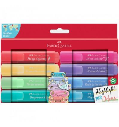 Набор текстовыделителей Faber-Castell 46 Pastel (пастельных), скош. наконеч., 1-5мм, 8 цветов