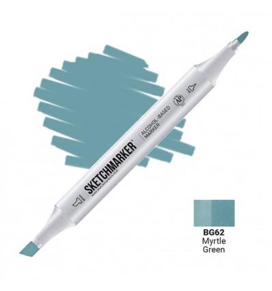 Маркер SKETCHMARKER двухсторонний, 2 пера ( долото и тонкое), Цвет: BG62 Зеленый мирт (Myrtle Green)