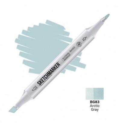 Маркер SKETCHMARKER двухсторонний, 2 пера ( долото и тонкое), Цвет: BG83 Арктический серый (Arctic Gray)