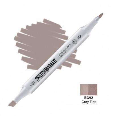 Маркер SKETCHMARKER двухсторонний, 2 пера ( долото и тонкое), Цвет: BG92 Серый насыщенный (Gray Tint)