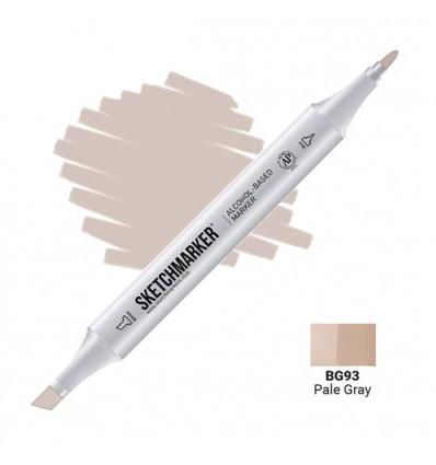 Маркер SKETCHMARKER двухсторонний, 2 пера ( долото и тонкое), Цвет: BG93 Бледный серый (Pale Gray)