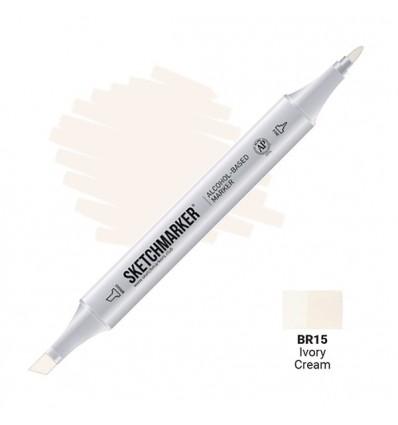 Маркер SKETCHMARKER двухсторонний, 2 пера ( долото и тонкое), Цвет: BR15 Кремовый (Ivory Cream)