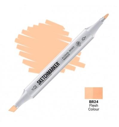 Маркер SKETCHMARKER двухсторонний, 2 пера ( долото и тонкое), Цвет: BR24 Телесный цвет (Flesh Colour)