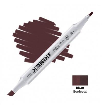 Маркер SKETCHMARKER двухсторонний, 2 пера ( долото и тонкое), Цвет: BR30 Бордо (Bordeaux)