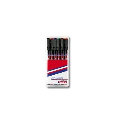 Набор маркеров для пленок Edding E-142 M, круглый наконечник, 1 мм., 6 цветов