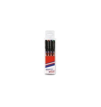 Набор маркеров для пленок Edding E-143 B, скошенный наконечник, 1-3 мм., 4 цветов