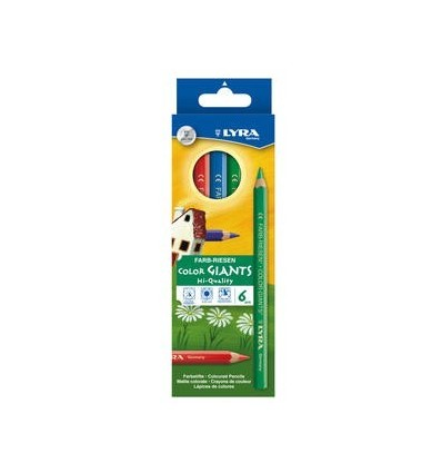 Набор цветных карандашей Цветной Великан Lyra Color Giant, 6 цветов