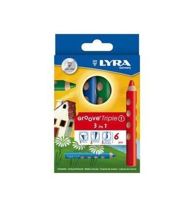 Набор цветных карандашей GROOVE Triple One, 6 цветов