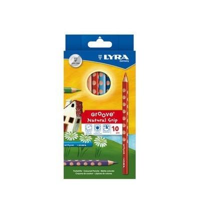 Набор цветных карандашей LYRA GROOVE, 10 цветов