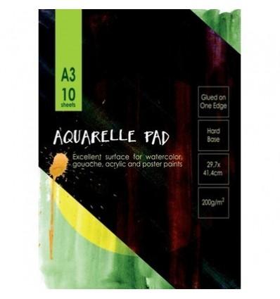 Альбом для акварели Kroyter Гознак 05671, А3, 200гр., 10 листов, склейка