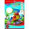 Набор цветной крепированной бумаги «Попугай, А4, 10 листов – 10 цветов)