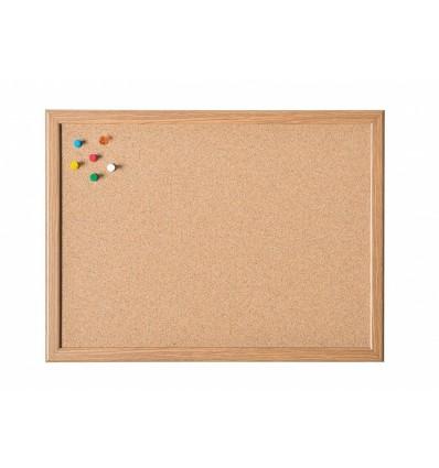 Доска пробковая Magnetoplan MDF , 1000х600мм, деревянная рамка
