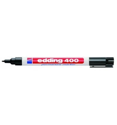 Маркер перманентный EDDING E-400 черный 1мм круглый наконечник
