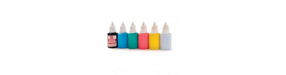 Краски по стеклу и керамике (витражные)
